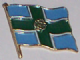 Derbyshire County Flag Enamel Pin Badge